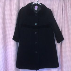 Gymboree Black Wool-blend winter coat 3T